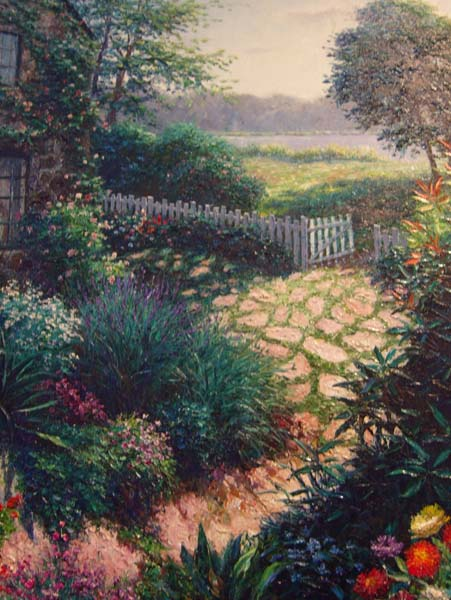 Henry Peters   Edwardsville Fence   30x40 Oil On Canvas