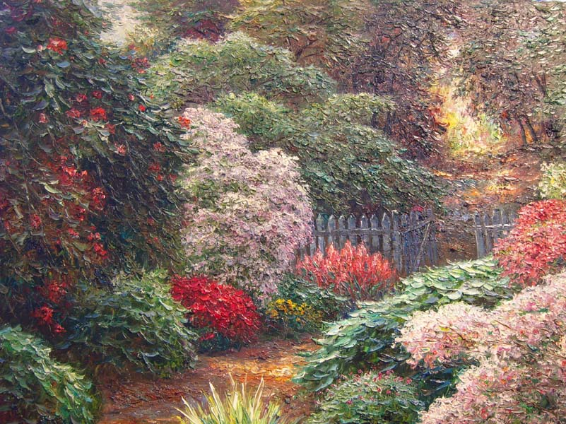 Henry Peters   Purnell Gardens   30x40 Oil On Canvas