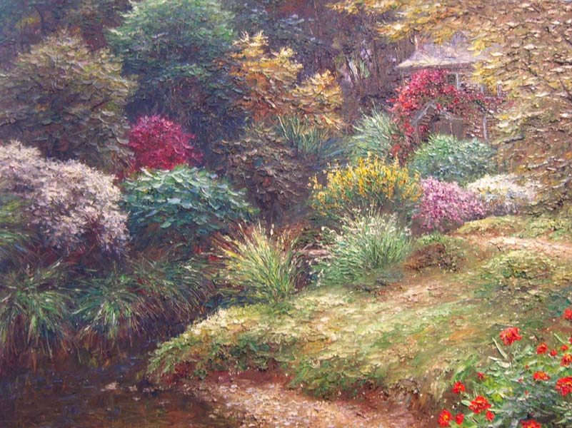 Henry Peters   Renfroe Gardens   30x40 Oil On Canvas