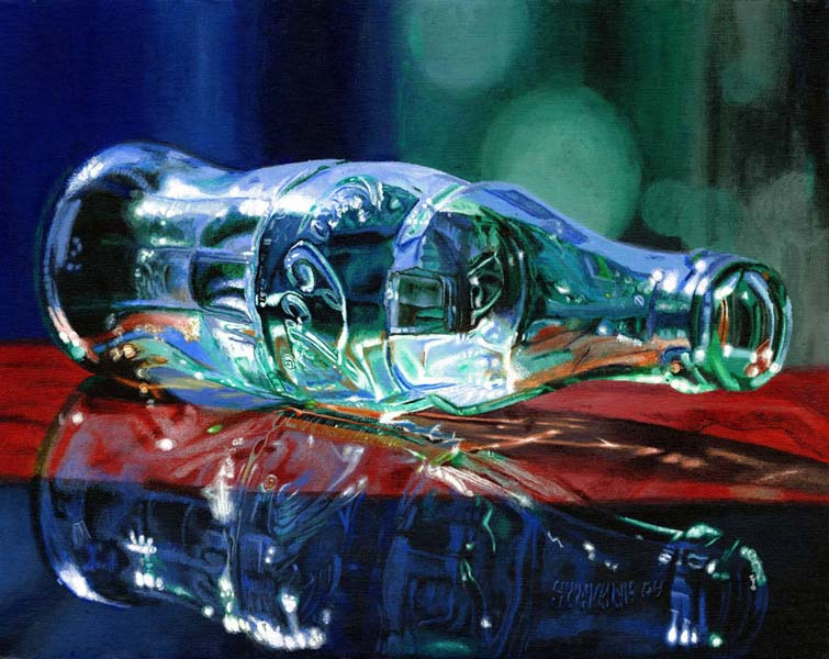 Roderick Stevens   End Table 24x30 Photorealism Giclee