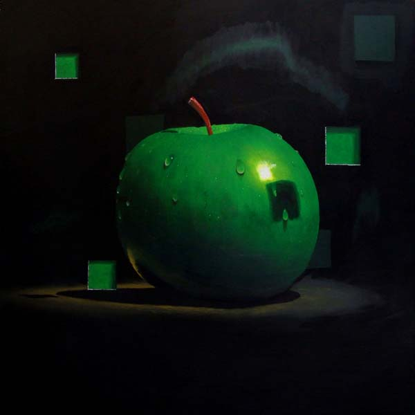 Roderick Stevens   Green Apple Borealis  30x30 Photorealism Giclee