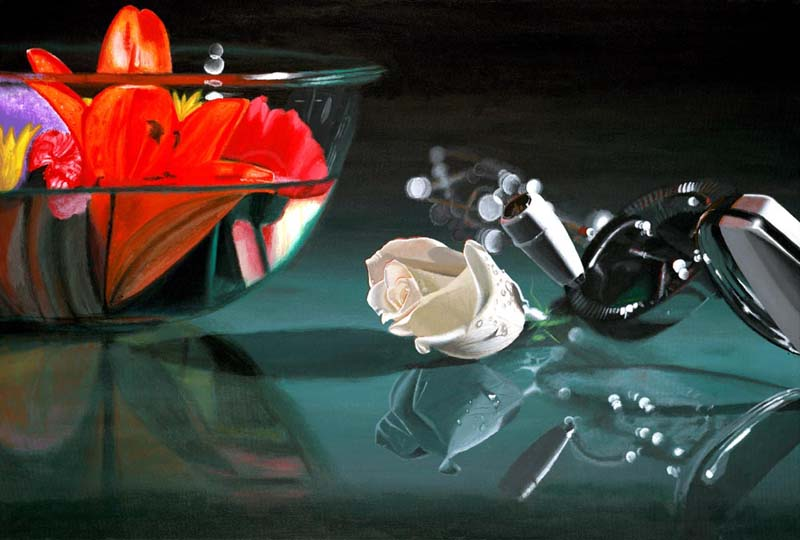 Roderick Stevens   Mixing Colors   24x36 Photorealism Giclee