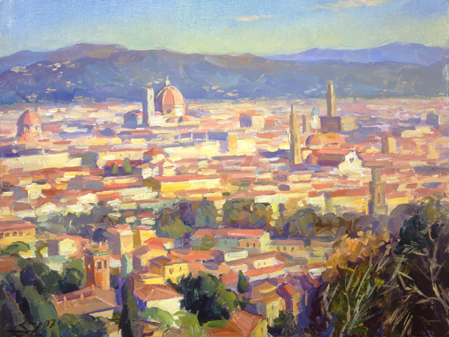 View On Florence From Torre Di Bellosguardo 27x35cm 2007