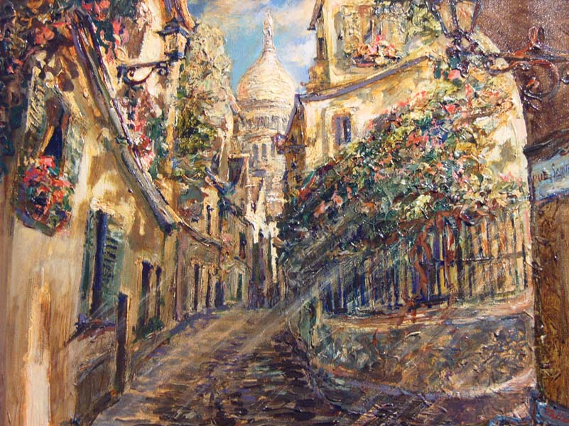 Tatiana Rhinevault   Rue St Rustique   18x24 Oil On Canvas