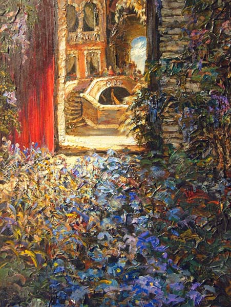 Tatiana Rhinevault   Venice Garden   18x24 Oil On Canvas