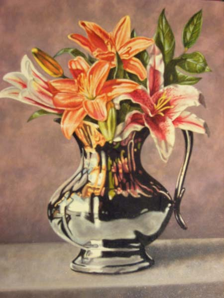 Tony Magner   Silver Pitcher   16x20 Oil On Canvas
