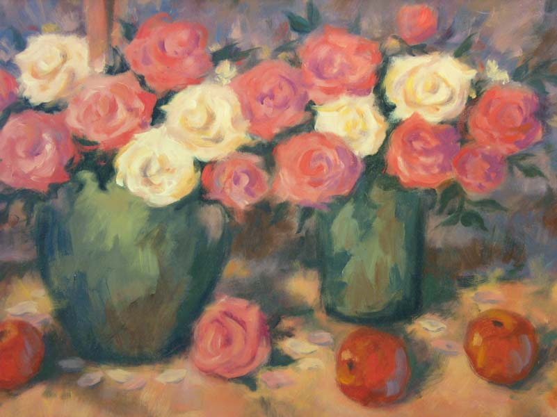 William Arden   Pink And White Roses