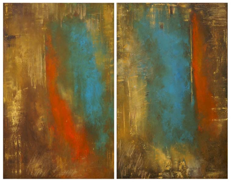 Anita Lewis   Gold Transition   Diptych   48x60   Oil