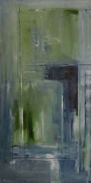 Anita Lewis   Mirrored Angles   24x48   Oil