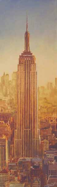 Craig Gould   Empire Sunset   12x40   Photorealism (oil On Canvas)