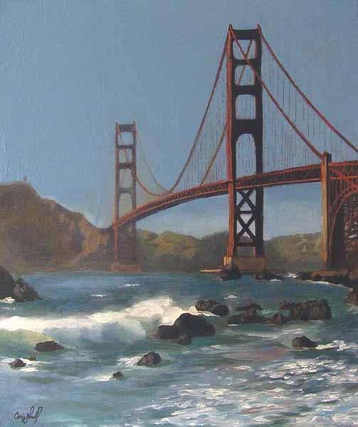 Craig Gould   Golden Gate   20x24   Photorealism (oil On Canvas)