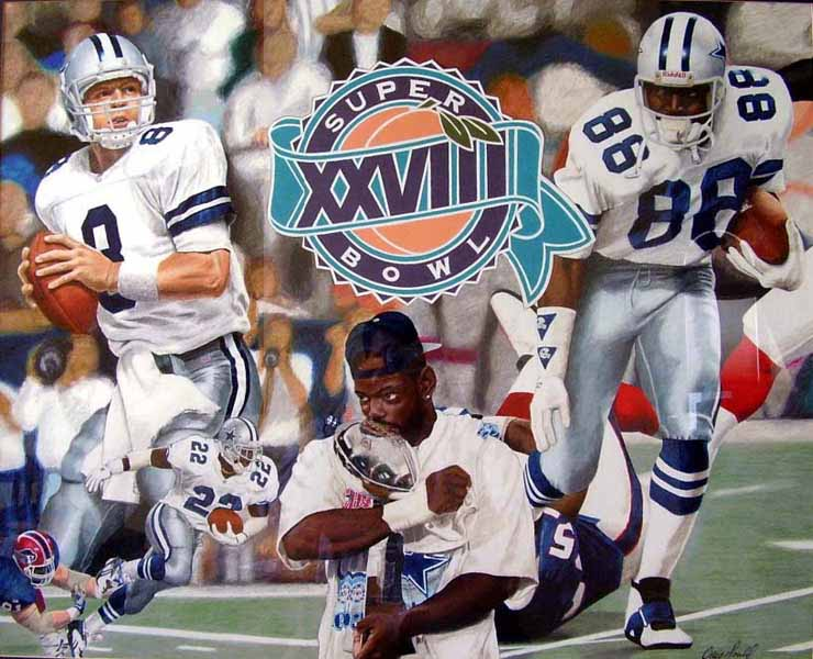Craig Gould   Super Bowl XXVIII   Colored Pencil On Board