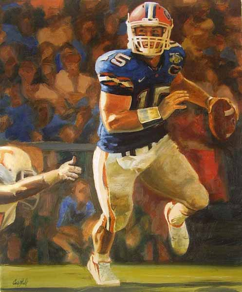 Craig Gould   Tim Tebow   16x20   Photorealism (oil On Canvas)