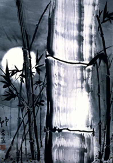 Moon Guardians 20x16 Ink On Rice Paper