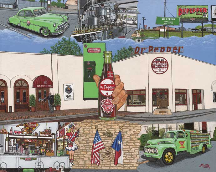 Gerald Marshall   Dr Pepper Texas   20x16   Canvas Giclee