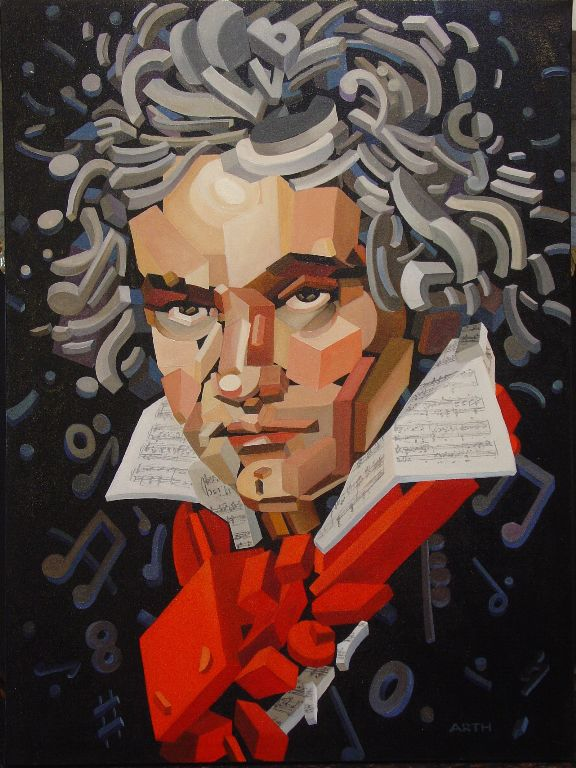Gregory Arth   Beethoven 2  40X30   Oil