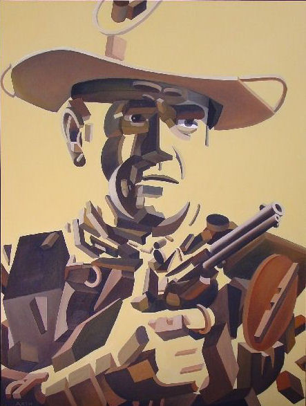 Gregory Arth   John Wayne 48X36 Oil
