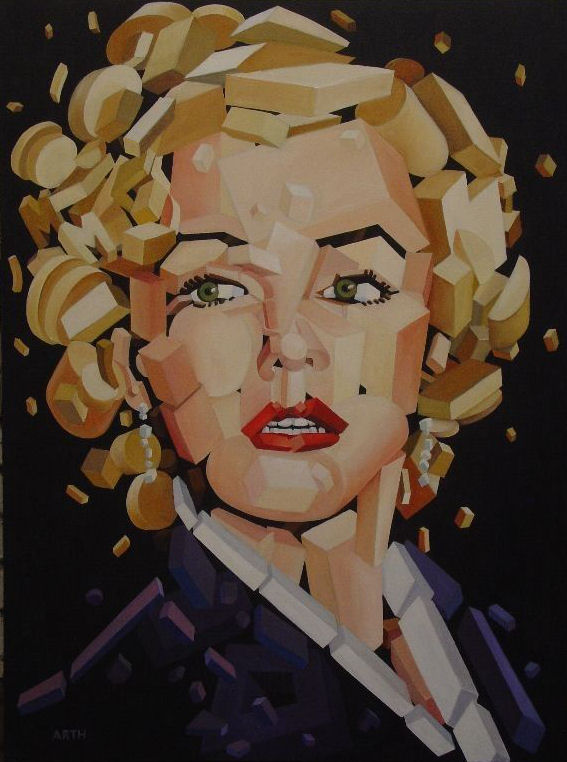 Gregory Arth   Marilyn Monroe 40x30 Oil