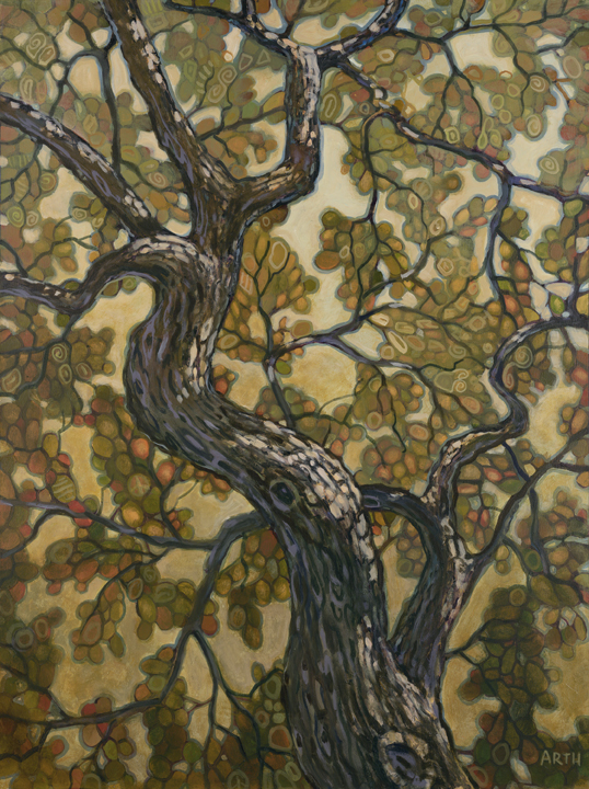 Gregory Arth   Trees Of Druham Dr 1 48x36 Oil