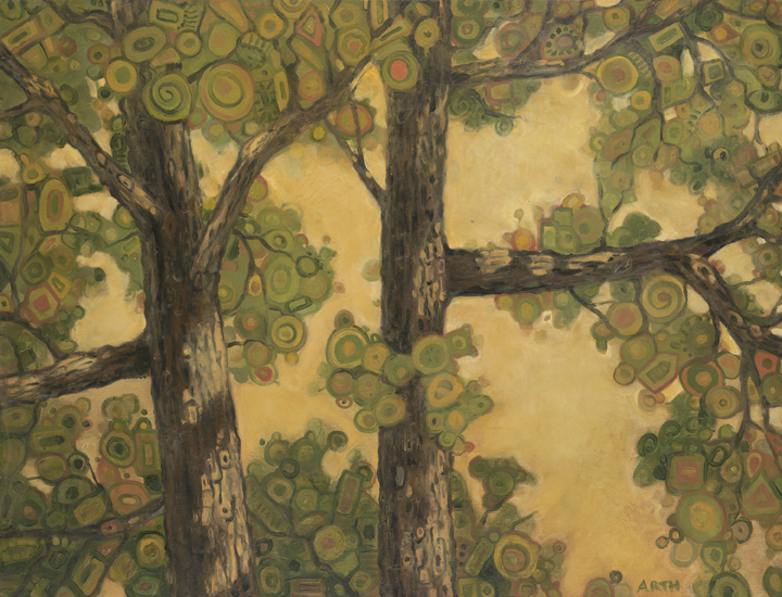 Gregory Arth   Trees Of Durham Dr 2 30x40 Oil