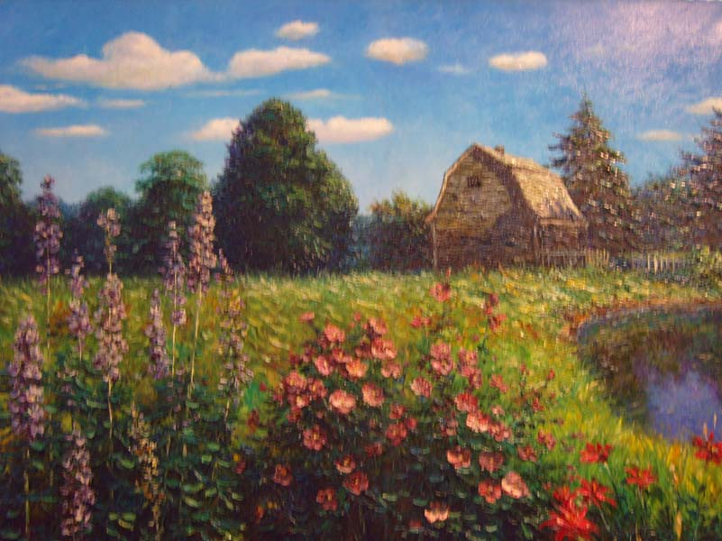 Henry Peters   Hathaway Field  30x40 Oil On Canvas