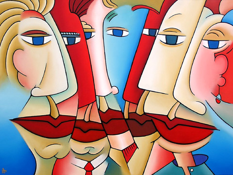 J Lynn Kelly   Lip Service 48x36 Oil On Canvas