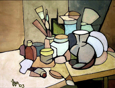 J Lynn Kelly   Still Life With Tube Of Paint 16x20 Oil On Canvas On Wood