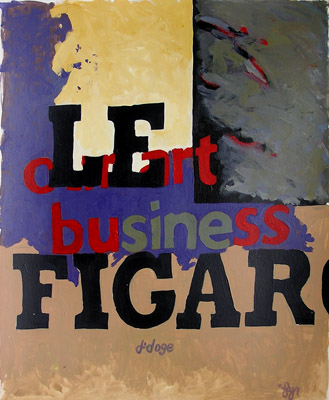 J Lynn Kelly Le Figaro 30x40 Acrylic On Paper