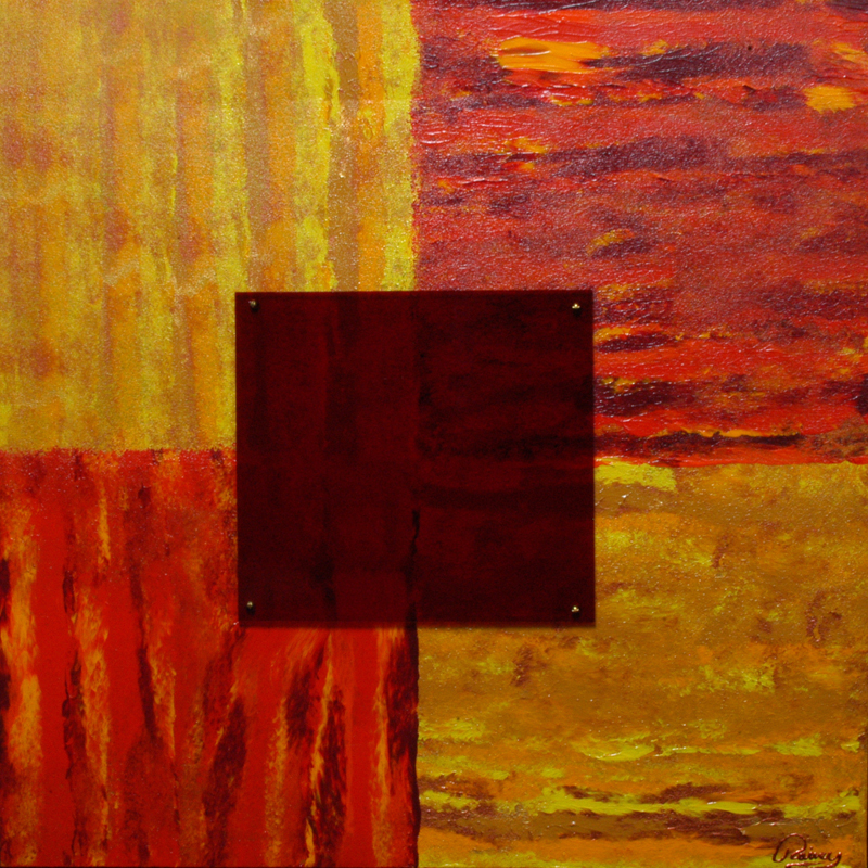 Kyle Rainey   Sunset View 30x30 Acrylic Stained Glass