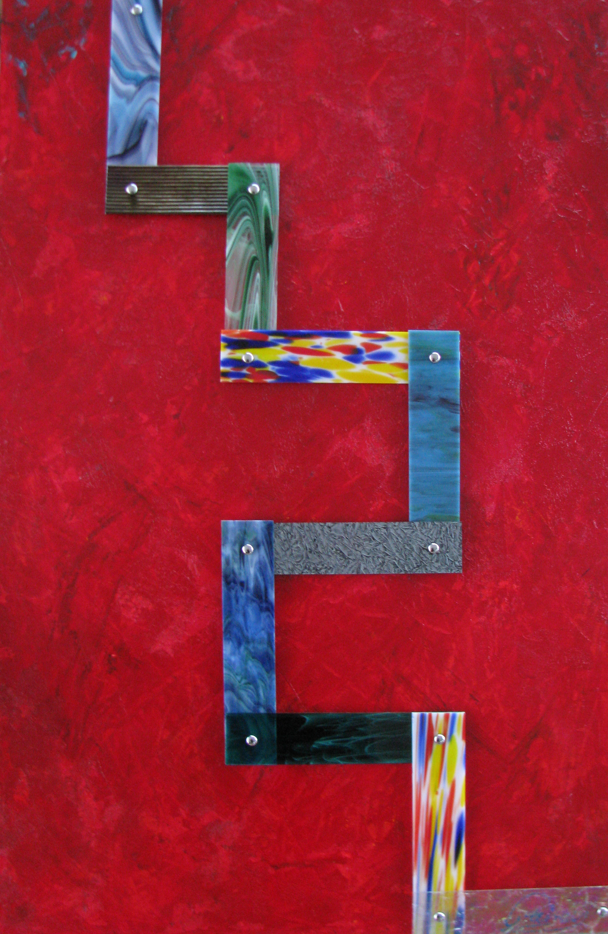 Kyle Rainey   Tetris 32x48 Acrylic Stained Glass