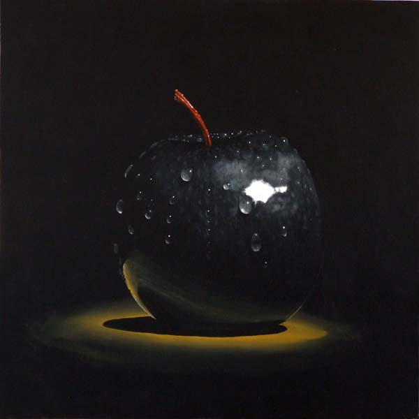 Roderick Stevens   Black Apple  30x30 Photorealism Giclee