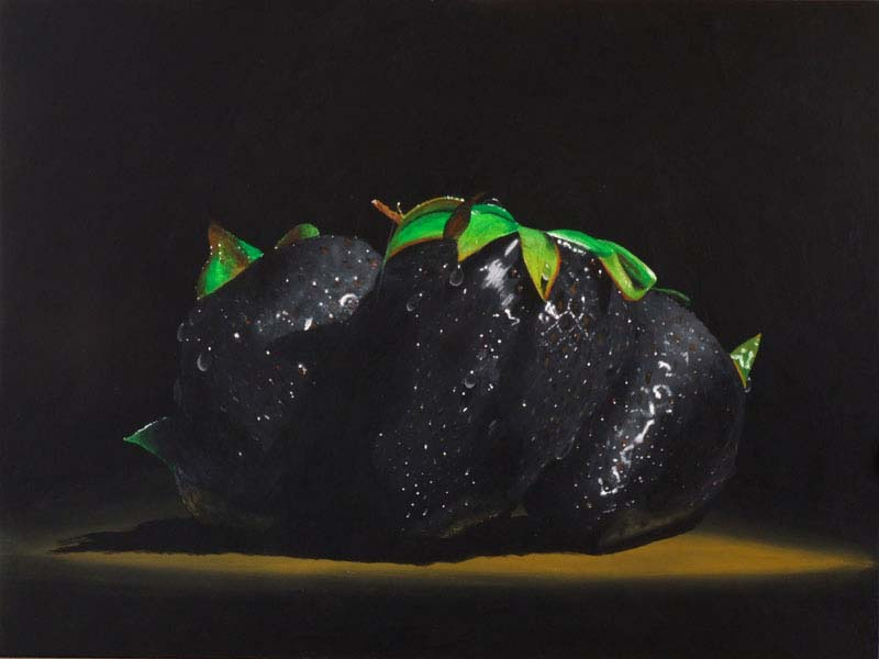 Roderick Stevens   Black Strawberries 18x24 Photorealism Giclee