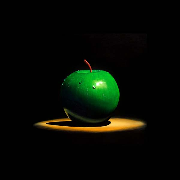 Roderick Stevens   Green Apple II 36x36 Photorealism Giclee