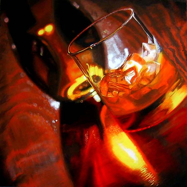 Roderick Stevens   On The Rocks  30x30 Photorealism Giclee
