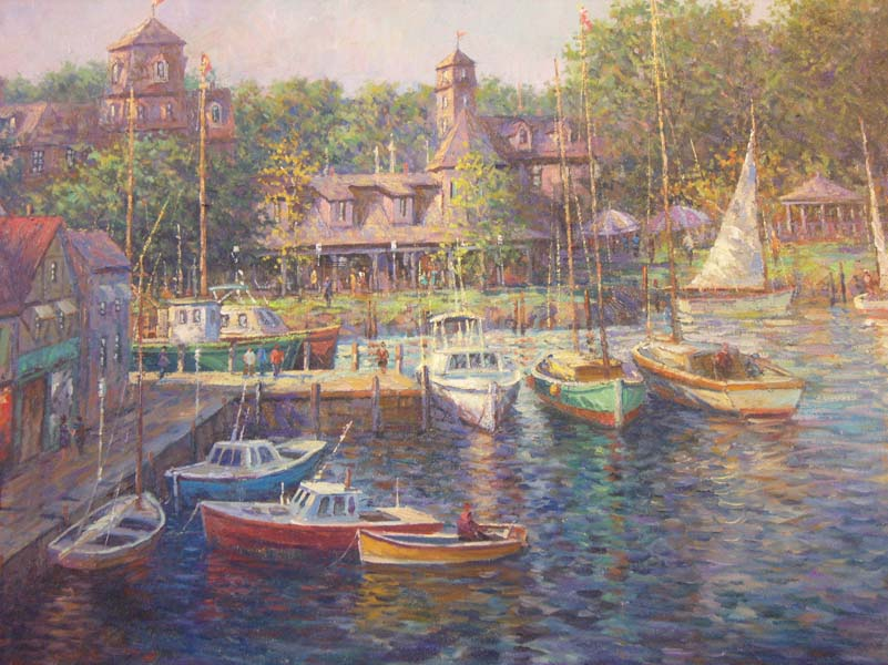 Shelby   Harbor   24x30 Oil On Canvas