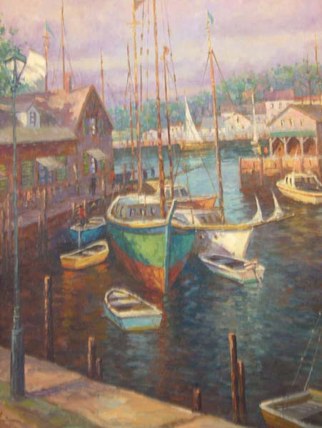 Shelby   Sailboats   24x30 Oil On Canvas