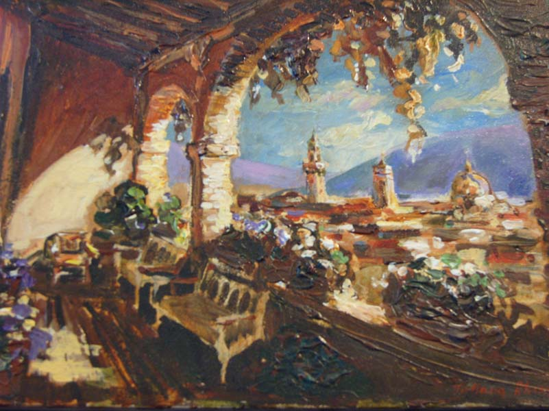 Tatiana Rhinevault   Florence View   9x12 Oil On Canvas