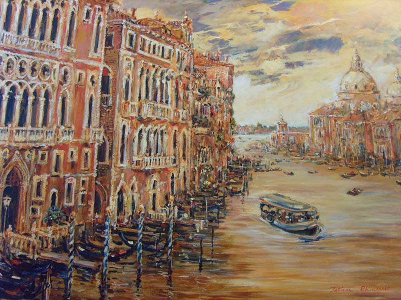 Tatiana Rhinevault   Grand Canal 30x40 Oil On Canvas