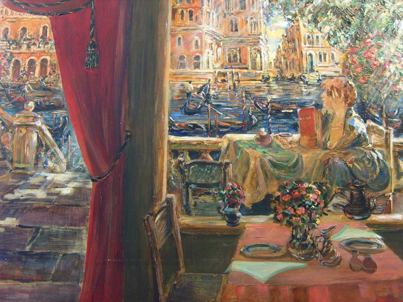 Tatiana Rhinevault   Venetian Memory 30x40 Oil On Canvas