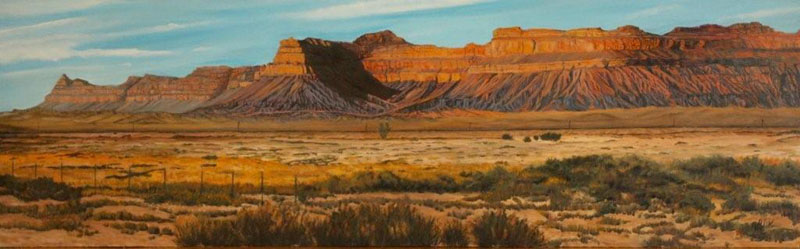 Terri Willis   View From 6   Oil 48x15