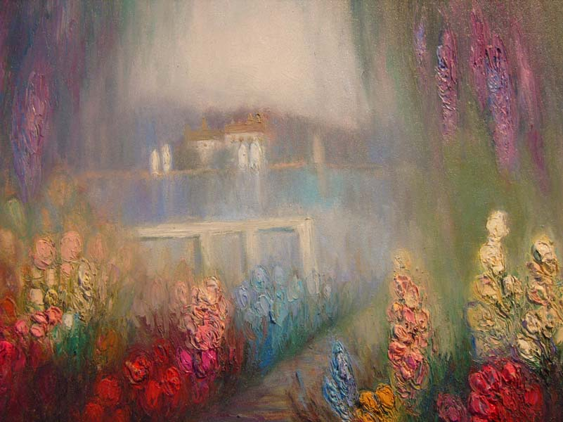 Yoli   Garden Walk   40x30 Oil On Canvas