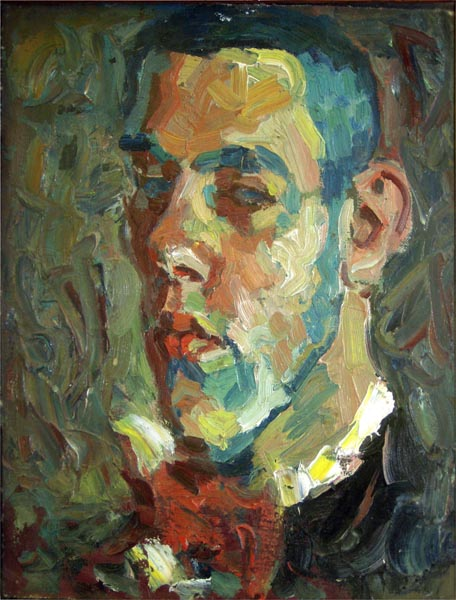 1959  Self Portrait, Canvas, Oil, 10x15