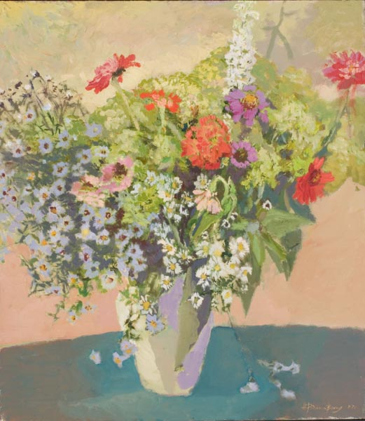 2004–Chrysanthemums, Cinii,hydrangeas,canvas, Oil, 32x28