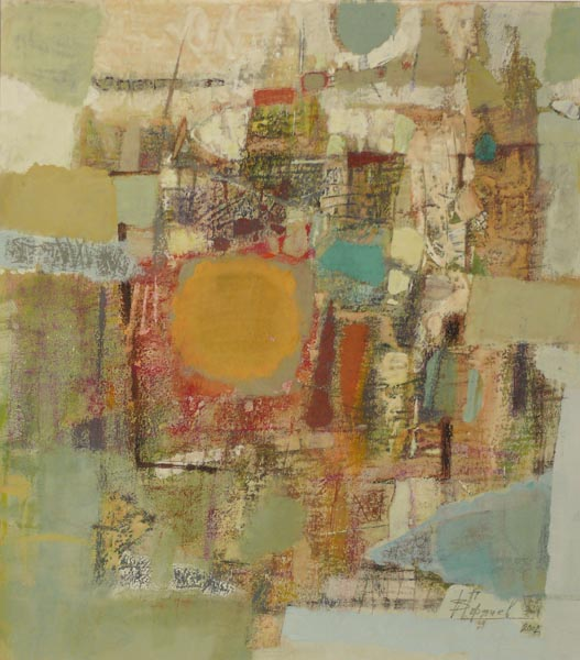 Sun City   23x20inch   58x51cm   Paper Mixed Media   2002
