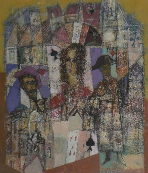 The Queen Of Spades   22x20inch   57x51cm   Paper Mixed Media   2007